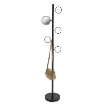 Mirror Coat Rack (Black Metal) - Versa