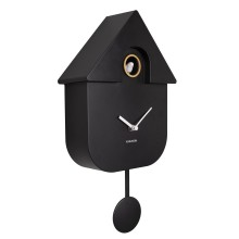 Modern Cuckoo Wall Clock (Black) - Karlsson