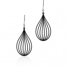 Seed Earrings S (Black) - Moorigin