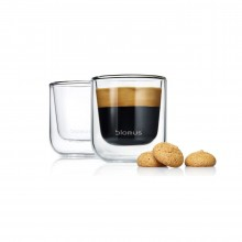 NERO Insulated Espresso Glasses 80ml (Set of 2) - Blomus