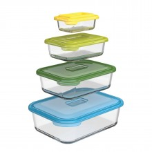 Nest™ Glass Food Storage Containers Set of 4 (Multicolor) - Joseph Joseph