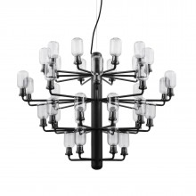 Amp Chandelier Large 35 LED Bulbs (Smoke / Black) - Normann Copenhagen
