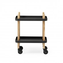 Block Table Trolley (Black / Ashwood) - Normann Copenhagen