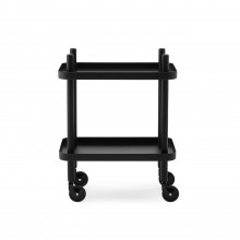 Block Table Trolley (Black / Black) - Normann Copenhagen