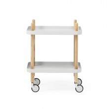 Block Table Trolley (Light Grey / Ashwood) - Normann Copenhagen