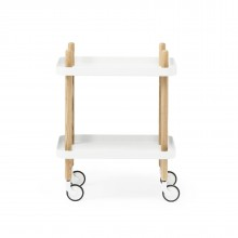 Block Table Trolley (White / Ashwood) - Normann Copenhagen