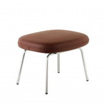 Era Leather Footstool (Metal) - Normann Copenhagen