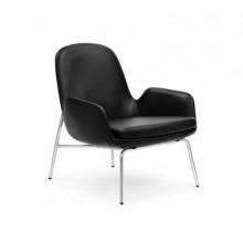 Era Leather Lounge Chair Low (Metal) - Normann Copenhagen