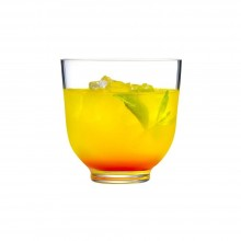 Hepburn Set of 6 Low Ball Glasses - Nude Glass
