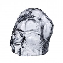 Memento Mori Faceted Skull Large (Clear) - NUDE Glass