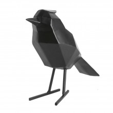Origami Bird Statue Large (Matt Black) - Present Time