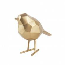 Origami Bird Statue Small (Matt Gold) - Present Time