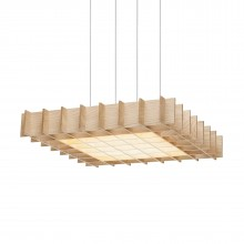 Grid LED Pendant Light (Ash Wood) - Pablo Designs