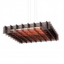 Grid LED Pendant Light (Acrylic Bronze) - Pablo Designs