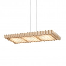 Grid Triple LED Pendant Light (Ash Wood) - Pablo Designs