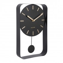Pendulum Charm Small Wall Clock (Black) - Karlsson