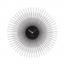 Peony Wall Clock (Steel Black) - Karlsson