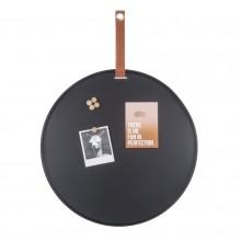 Perky Round Memo Board (Black) - Present Time