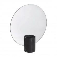 Pesa Marble Table Mirror (Black) - Blomus
