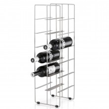 Pilare Wine Bottle Storage Unit for 12 bottles (Matt Steel) - Blomus
