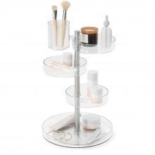 Pirouette Cosmetic Organizer (Clear / Nikel) - Umbra