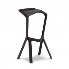 MIURA Bar Stool (Black) - Plank