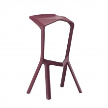 MIURA Bar Stool (Wine Red) - Plank