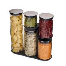 Podium™ 100 Glass Storage Container Set and Stand 5 Pieces - Joseph Joseph