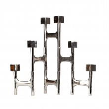 Candle Holder Folding Nickel Square - Pols Potten