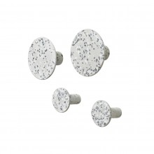 Ponto Set of 4 Wall Hooks Terrazzo Grey - Blomus
