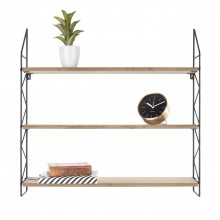Zig Zag Wall Rack (Black) - Present Time