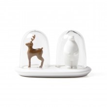 Wildlife Salt and Pepper Shaker (Deer+Bear) - Qualy