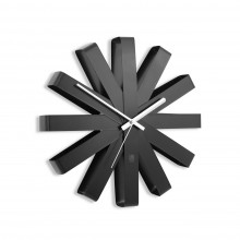 Ribbon Wall Clock (Black) - Umbra