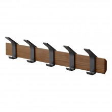 Rin Wall Coat Rack (Walnut / Black) - Yamazaki