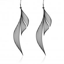 Ripple Earrings M (Black) - Moorigin