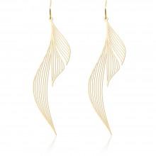 Ripple Earrings M (Gold) - Moorigin