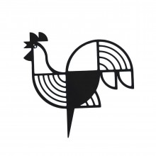 Rooster Metal Wall Decor / Wall Art (Black) - A Future Perfect