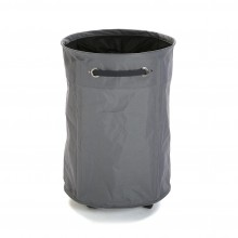 Round Laundry Basket with Wheels (Grey) - Versa