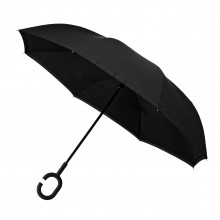 Inside Out Umbrella Double Layer Windproof (Black) - Impliva