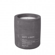 Scented Candle FRAGA L Soft Linen - Blomus