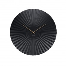 Sensu Wall Clock Steel (Black) - Karlsson