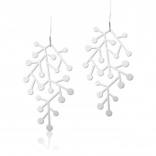 Snow Days Earrings S (Silver) - Moorigin
