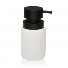 Soap Dispenser White & Black (Resin) - Versa