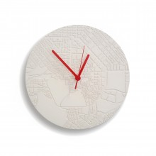 Space & Time Concrete Clock (White) - A Future Perfect