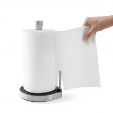 Spin Click N Tear Paper Towel Holder (Black / Nickel) - Umbra