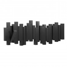 Sticks Multi Hook Coat Rack (Black) - Umbra
