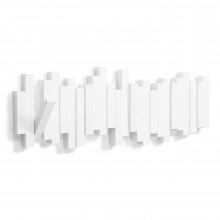 Sticks Multi Hook Coat Rack (White) - Umbra