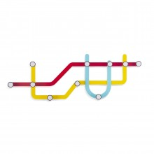 Subway Multi Hook Rack (Multicolor) - Umbra