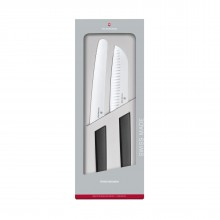 Swiss Modern Kitchen Knives 2 Piece Set (Black) - Victorinox