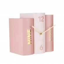 Table Clock Book (Pink) - Karlsson